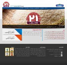 طراحی سایت برنج ۲۱ و میزبان